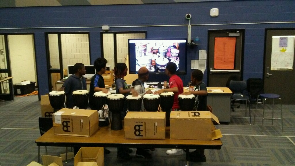 African Drums for Franklin Middle School